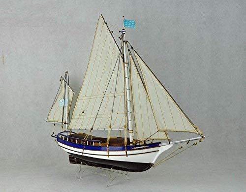 1yess Wohnzimmer Dekorationen Boote Schiff Modell Kit Segelboot Pädagogische Maßstab 1/30 Klassiker Holz Segelboot Schiff Modell Kits The Spary Boston Modern Segelboot DIY Modell