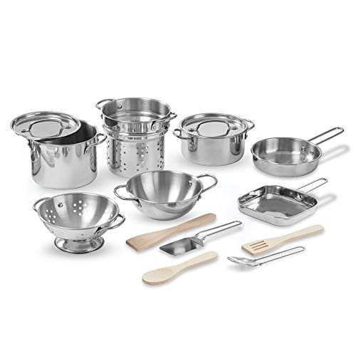 Buy Melissa Doug Deluxe Stainless Steel Pots Pans Play Set Toys R Us