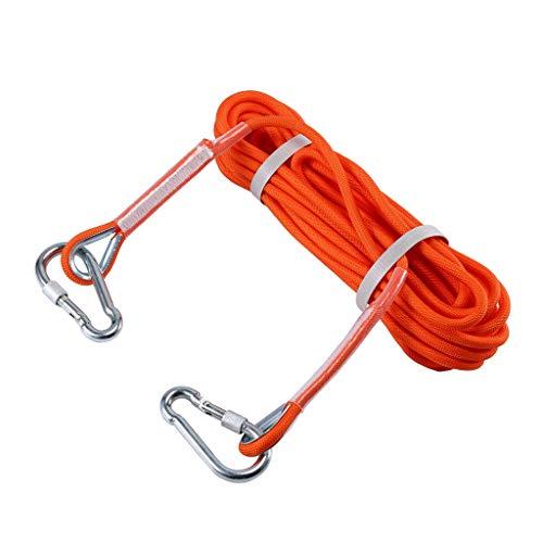 Selighting Corda da Arrampicata Professionale Corda Escursione Esterna, Attrezzature di Soccorso Ccorda di Sicurezza 8 mm di Diametro, 9 KN di Alta Resistenza (10m, Arancione)