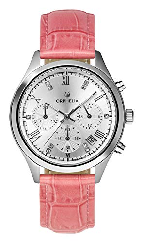Orphelia Damen Chronograph Quarz Uhr mit Leder Armband OR31801