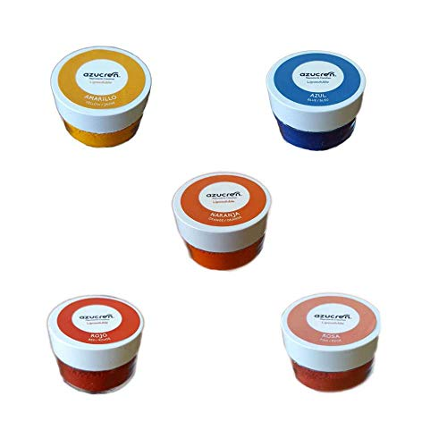 Pack de 5 Colores de Colorantes en Polvo Liposolubles