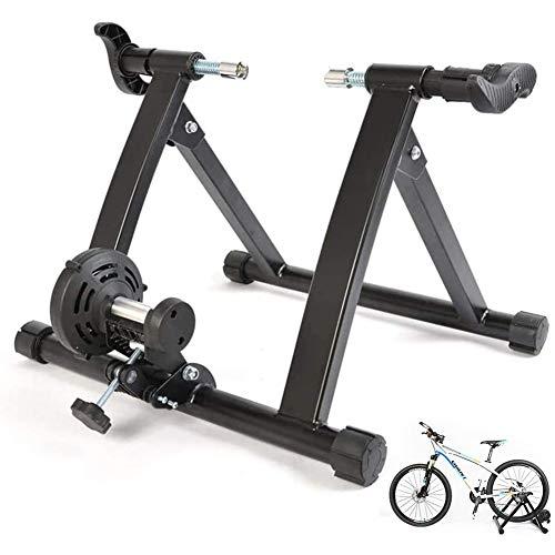TANCEQI Entrenadores Resistencia Bicicleta Plegables Interior Montaña Rueda Soporte Estación Ciclismo Fitness,...