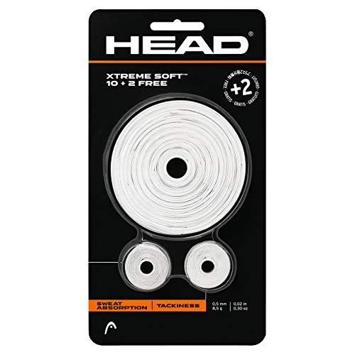 Head- Xtremesoft 10+2 Accesorio de Tenis, Color Blanco, Talla única (285036-WH)