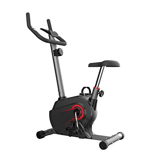PHASFBJ Bicicleta ergómetro estática,Volante inercia de 13 LB,bajo Nivel Ruido,hasta 150 kg,8 configuraciones Resistencia Ajustables Panel de Control multifunción,Rojo