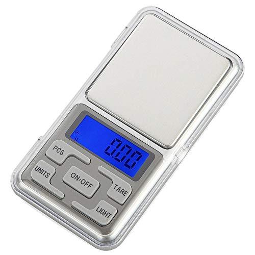 Balanzas balanza Mini balanza digital de bolsillo para joyería de plata esterlina y oro Gramo Balanzas electrónicas 100/200/300/500 g x 0,01 g / 0,1 g 500 g 0,1 g