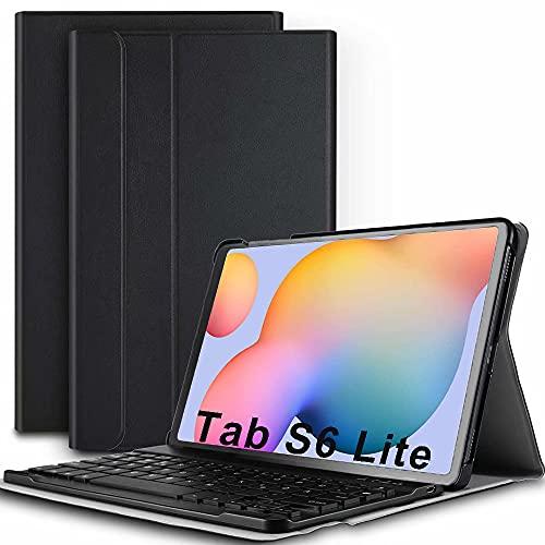 COOLEAD Cover con Tastiera per Samsung Galaxy Tab S6 Lite 10.4  2020 Custodia con Tastiera Italiana per Samsung Galaxy Tablet S6 Lite Cover Tastiera Bluetooth Wireless Keyboard Per Samsung Tab S6 Lite