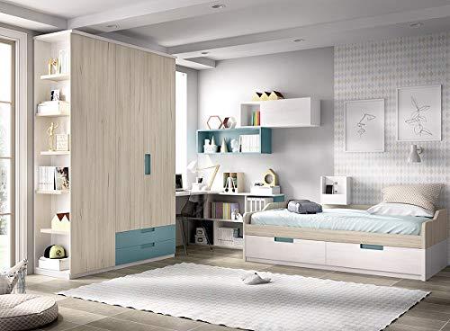 Kinderzimmer Jump 205, Kleiderschrank, Anbauregal, Schreibtisch, Wandregal,freie Farbwahl