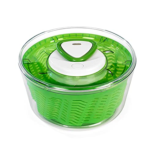 Zyliss E940012 Easy Spin 2 Salad Spinner-Large Green Centrifuga per Insalata, Plastica