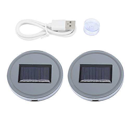 Portavasos 2pcs Solar LED Cup Pad Holder RGB 7 Colores Luces USB Car Bottle Bottom Mat