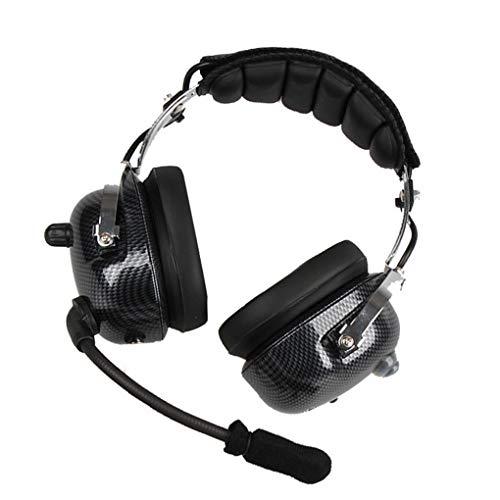 Fornateu ANC Aviation Headset Professional Suppresseur de Bruit actif Casque Racing parapentiste