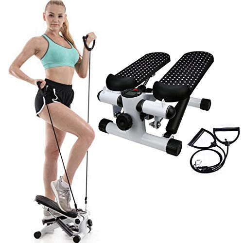 HADST Upgraded Mini Fitness Steppers for Exercise (15 MIN/Day), Small & Quiet, Adjustable Stepper Machine Cardio Stair Climber, Stepping Fitness Machine for Women Workout Mothers Day