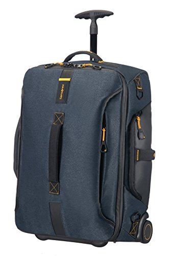 Samsonite Paradiver Light - Travel Duffle/Backpack with 2 Wheels S, 55 cm, 51 L, Blue (Jeans Blue)