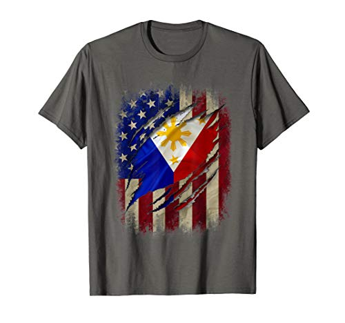 Filipino American Flag Filipino Blood Inside Me Gift T-Shirt