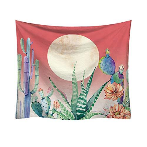 Tapiz De Cactus, Tela De Decoración De Escena De Tela para Colgar En La Pared con Impresión De Dibujos Animados, Varios Tamaños De Tapices De Pared para El Hogar150*130cm