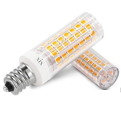 XIX Bombilla LED E12 de 6W No regulable 690 lúmenes 90-265V CA ángulo de 360 Grados CRI 85Ra Blanco Cálido 3000K Repuesto para Halógenas de 70W B15D (2 unidades)