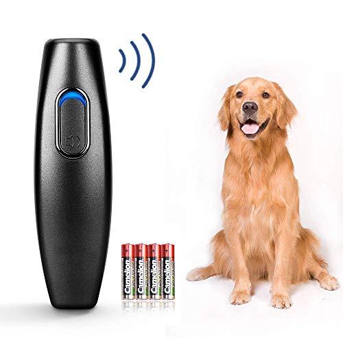 APoony Handheld Hunde Trainingsgerät Anti-Bell Ultraschall Gerät Ultraschall Hunde Repeller und Trainer Gerät Anti Bellen Stop Rinde für Hunde Bellkontrolle