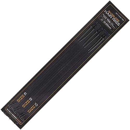 g8ds® 6 Haar Rigs Barbless Größe 8 Handgebunden Wirbel Schrumpfschlauch Haken Line Aligner Kicker Karpfen Angeln