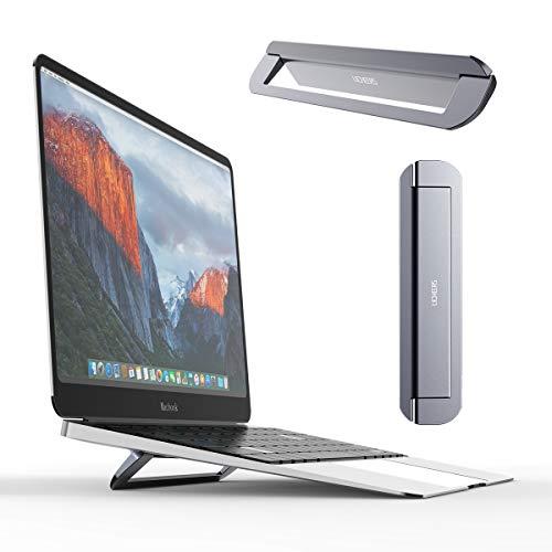 """Licheers Unsichtbar Laptop Ständer, Faltbarer Aluminium Notebookständer, tragbarer Laptophalter kompatibel mit MacBook Pro, Air, Dell XPS, HP, Lenovo, ASUS, Alienware und mehr 10-17"""" Laptops (Grau)"""