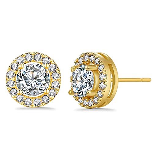 TTGE 2021 New Luxury White Zircon Stud Earrings For Women Fashion Elegant Silver Color Earring Female Wedding Jewelry Gift