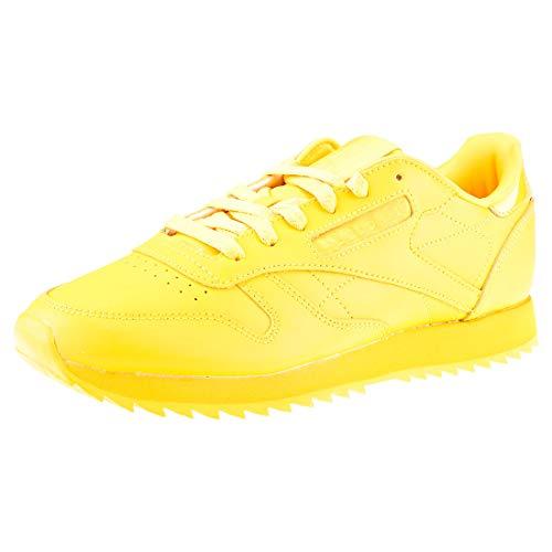 Reebok Cl Lthr Ripple, Zapatillas de Deporte para Mujer, Amarillo (Fierce Gold 0), 38.5 EU