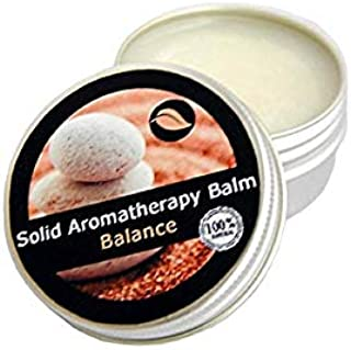 MASSU Solid Aromatherapy Balm a Peaceful Blend with Essential Oils - Rosewood Yland-Yland, Clary Sage and Bergamot - Resto...