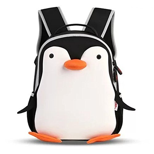 Qianyixin Baby,Little Kid and Child Backpack Travel Bag Lunch Bag School Bag Best Gift for Kids (Penguin)