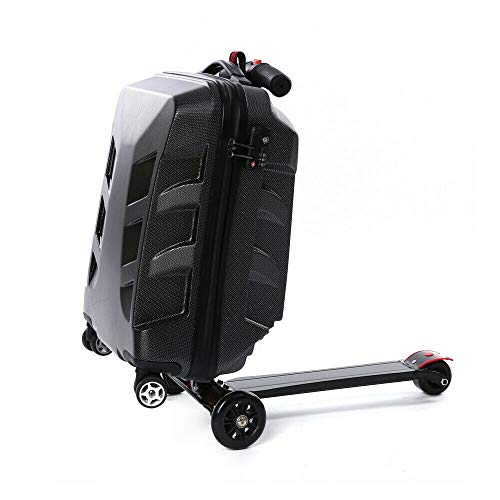 Jasemy 21 Inch Trolley Suitcase Travel Suitcase Hand Luggage Scooter Luggage Black