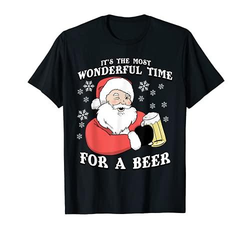 Es el momento más maravilloso para una cerveza | Navidad Camiseta