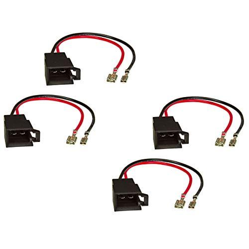 tomzz Audio 7103-002 Lautsprecheradapter (4er Set) auf DIN kompatibel mit Dacia Opel Renault Seat Skoda Volvo VW