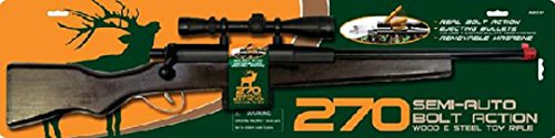 270 Hunting Replica 28' Bolt Action Wood Rifle Toy Fake Gun Weapon With Bullets