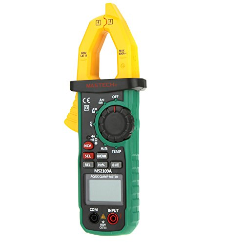 Mastech MS2109A True RMS Digital AC DC Clamp Meter 600A Temp NCV RC Test Tester