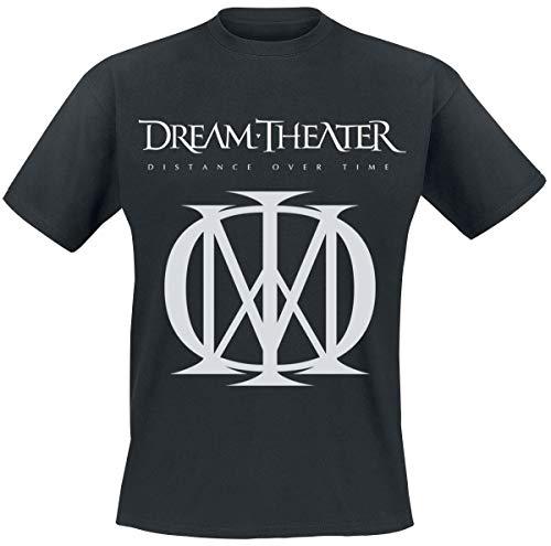 Dream Theater Distance Over Time Logo Männer T-Shirt schwarz L 100% Baumwolle Band-Merch, Bands