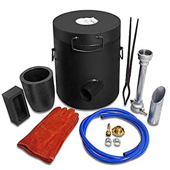 TOAUTO 6 Kg Propane Melting Furnace Kit w Clay Graphite Foundry Crucible 2700F 1500C Kiln Smelting Jewelry Precious Metal Gold Melting Casting Refining Forge Set Metal Recycle