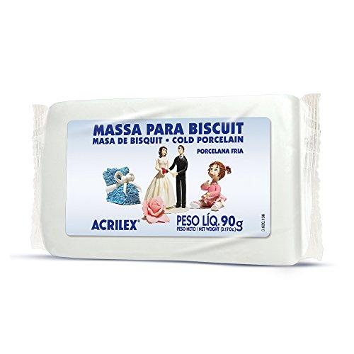 Massa De Biscuit Ou Porcelana Fria Acrilex 90G Natural, Acrilex