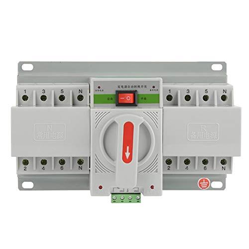 Automatischer Transferschalter, 63 Ampere Transferschalter Leistungsschalter 220 V Doppeltransferschalter 4P-Transferschalter