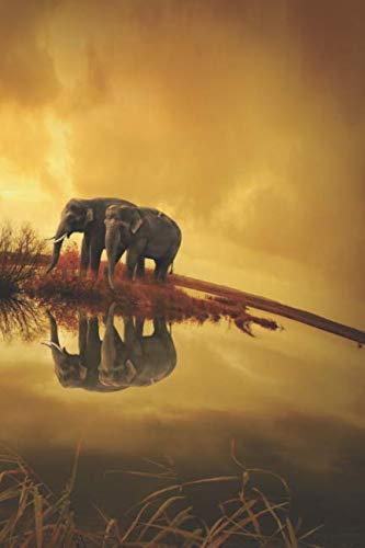 Krafttier Elefant - Notizbuch: Tagebuch / Notizbuch mit Elefanten Motiv