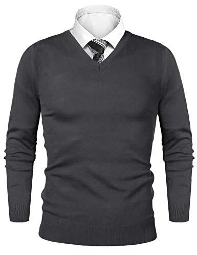 iClosam Jersey De Lana Hombre Punto Sudadera De Punto Grueso para Hombre Outwear Tops Sueltos