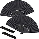 2 Piezas Abanico de Mano Plegable,Kung Fu Tai Chi Ventilador Plegable de Mano para Actuación/Baile/Decoraciones/Festival/Artesanía/Regalo