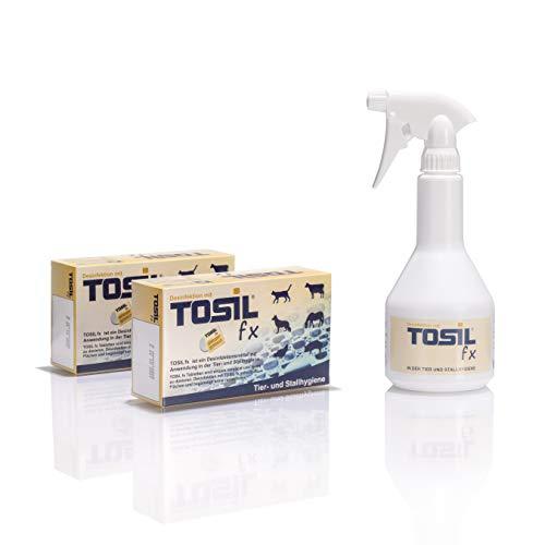 Inoquest Labs TOSIL fx Desinfektionspaket (50 Tabs/Tabletten) - Desinfektionsmittel, wirksam gegen Bakterien, Viren, Pilze & Parasiten (Giardien & Kokzidien), Wirkstoff: Chloramin-T