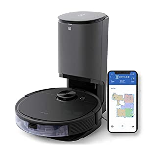ECOVACS Deebot N8 Pro+ Robot Vacuum and Mop Cleaner, with Self Empty Station, 2600Pa Suction, Laser Based LiDAR Navigation, Carpet Detection, Multi Floor Mapping, Personalized Cleaning