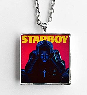 Album Cover Art Necklace The Weeknd Starboy