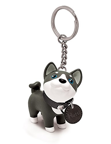 Cute Dog Key Chain, Husky Key Ring Anti-Lost Key Chain Dog Keyhook Key Holder Car Wallet Keyring Cell Phone Decor Gift for Birthday Party Friendship Festival by DomeStar