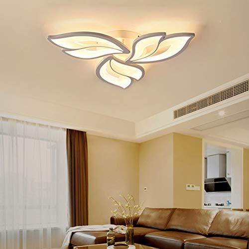 Lámpara LED de techo para Salón Dormitorio Plafones Modernas Regulable Con mando a distancia Lámpara Colgante Pantalla de Acrílico Diseño Luz Cocina Comedor Luces Habitacion Decor Iluminacion L60cm