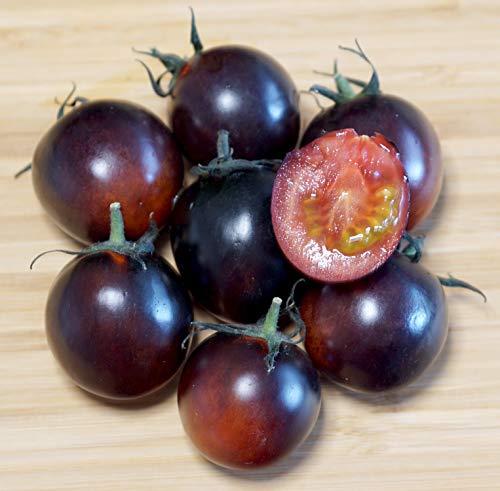 Purpur-Dunkelrote Cherry-Tomate - Zweifarbige Tomate - sehr süß - 10 Samen