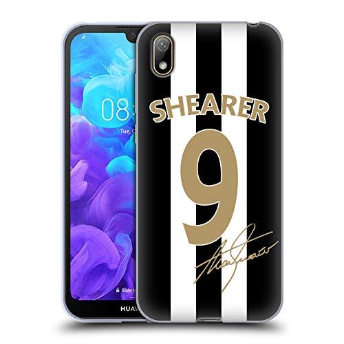 Head Case Designs Officiellt Licensierade Newcastle United FC NUFC Alan Shearer Signerad Guld Jersey Retro Badge Kollektion Mjuk Gel Fodral Kompatibelt med Huawei Y5 (2019)