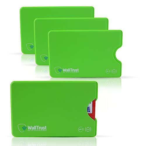 WallTrust Funda Protectora RFID para Tarjetas de crédito, Juego de 3, Verde