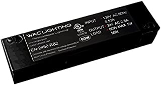 WAC Lighting EN-2460-RB2 120V Input 24V Output 60W Remote Enclosed Electronic Transformer, Black