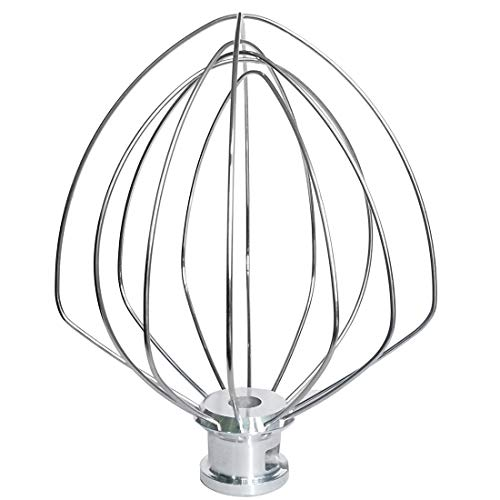 KN256WW Whisk Attachment Stainless Steel 6 Wire Whip Fits KitchenAid 6 Quart Bowl Lift Stand Mixer for Egg Heavy Cream Beater, Cakes Mayonnaise