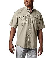 Columbia Men's PFG Bahama II Short Sleeve Shirt, Fossil, Medium
