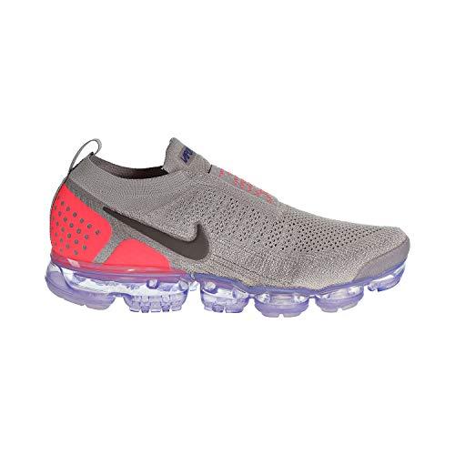 Nike Air Vapormax Flyknit MOC 2 Men's Shoes Moon Particle/Solar Red ah7006-201 (12.5 D(M) US)